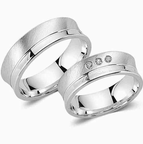Verlobungsringe Silber Zirkonia Cilor G122