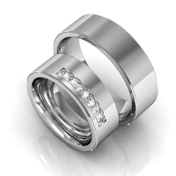 Trauringe Silber Brillanten ID132