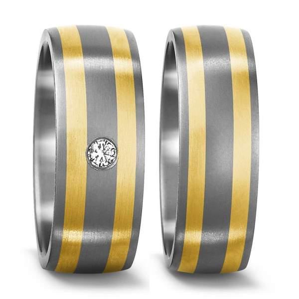 Trauringe Gelbgold Brillanten Titan Factory 50927
