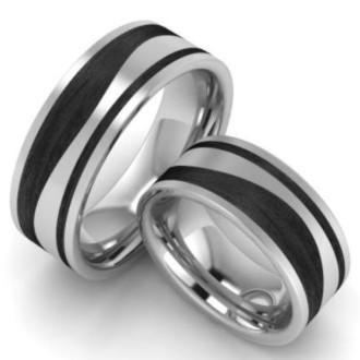 Verlobungsringe-Schwarz-Silber-Edelstahl-Carbon