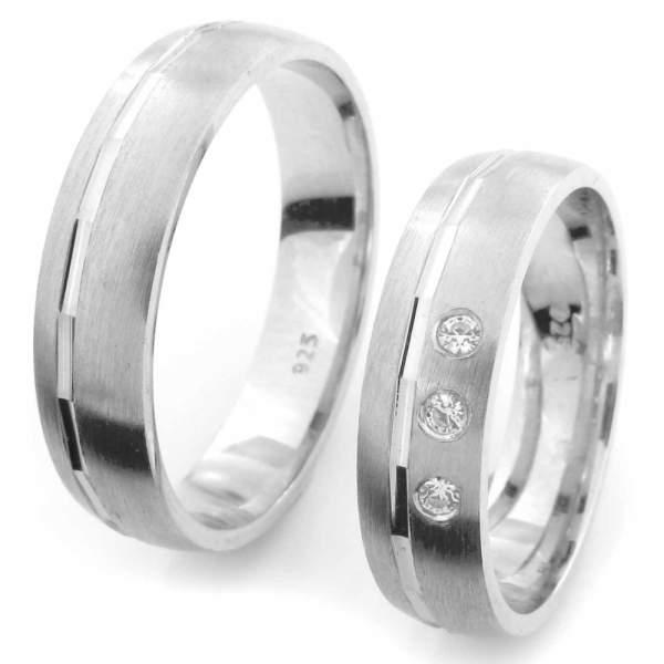 Verlobungsringe Silber Zirkonia Cilor CRG41