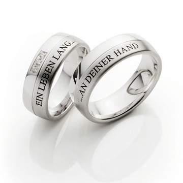 Verlobungsringe Silber Gravur Brillanten ID376