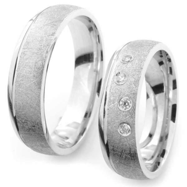 Verlobungsringe Silber Zirkonia Cilor CRG43