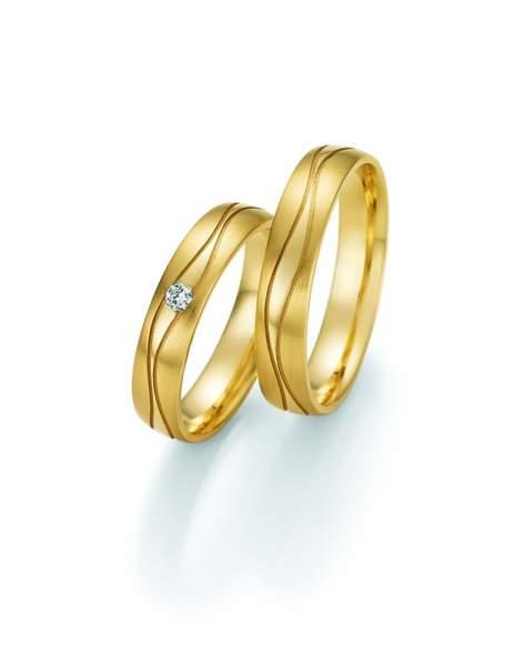 Trauringe Gold Honeymoon Solid Brillant 66-48110