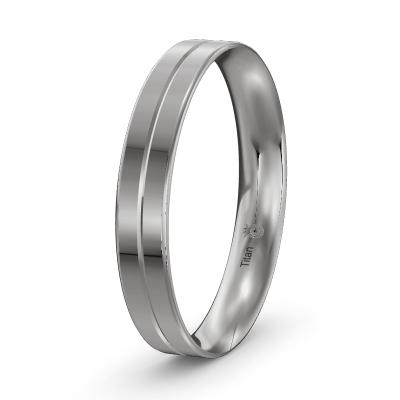 Verlobungsring für Männer aus Titan poliert