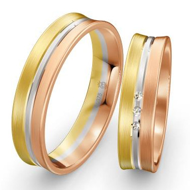 Trauringe-Weissgold-Rotgold-Tricolor-mit-Gelbgold