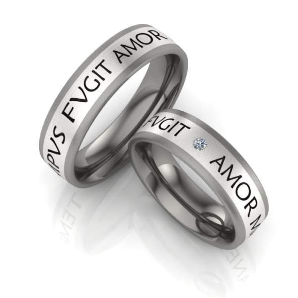Verlobungsringe Titan Silber Brillant ID323