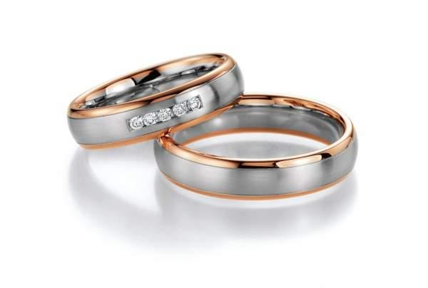 Trauringe Gold Platin Honeymoon Premium Brillant 02-40030