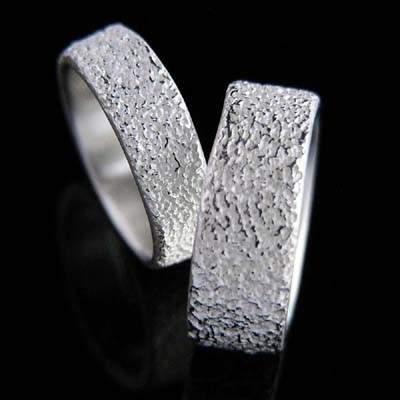 Trauringe Silber Natur im Design - Krissel