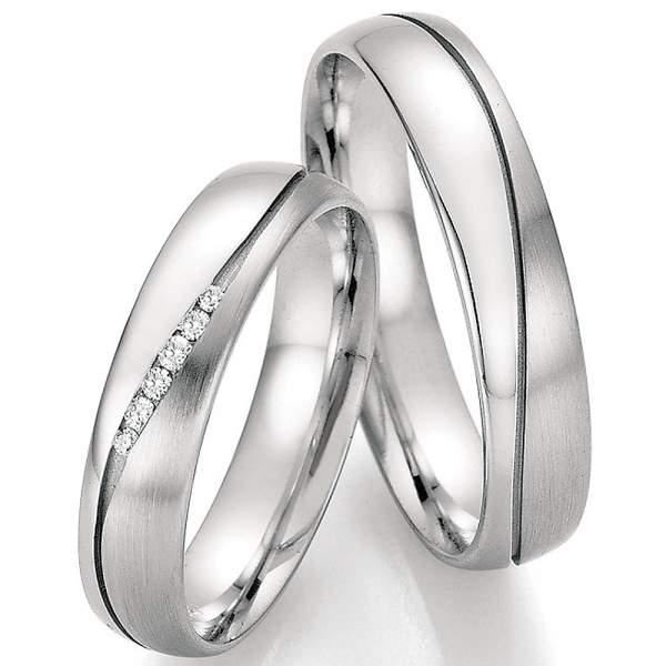 Trauringe Weiss Honeymoon Infinity Brillant