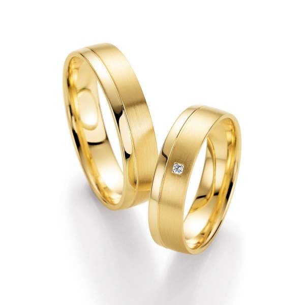 Trauringe Gelbgold Honeymoon Harmony Brillant 66-10210