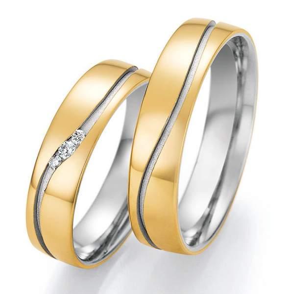 Trauringe Gold Honeymoon Solid Brillant 66-46050