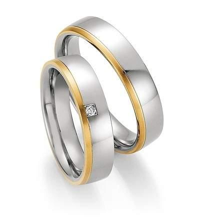 Trauringe Steel Gold Brillant 88-01850