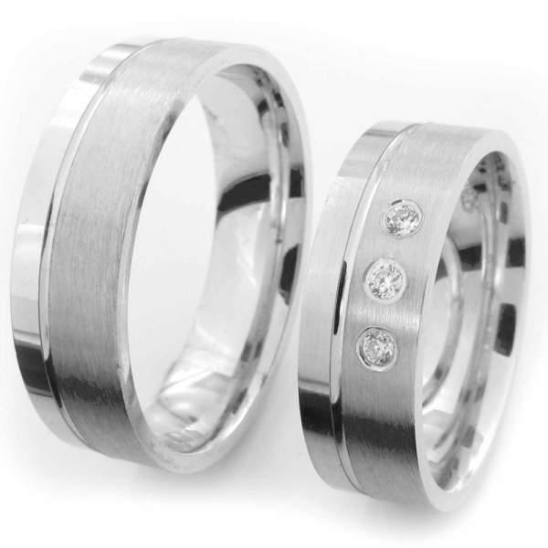 Verlobungsringe Silber Zirkonia Cilor CRG42