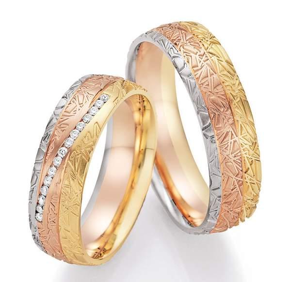 Trauringe Gold Palladium Sunrise Brillant 66-44050
