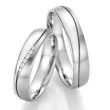 Trauringe Weißgold Honeymoon Infinity Brillant 66-35130