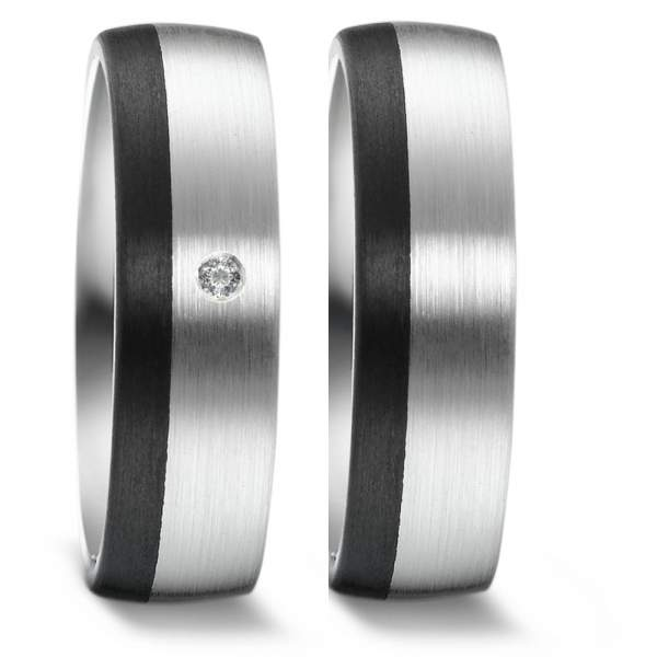 Trauringe Carbon Silber Brillant Weidner 62373