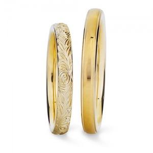 Vintage-Trauringe Gold
