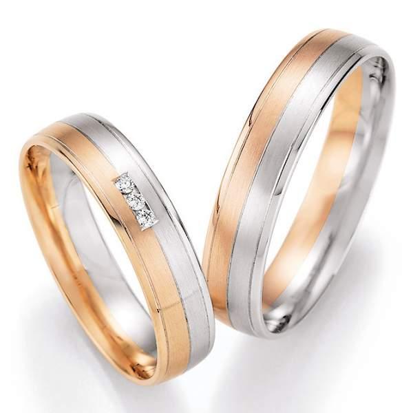 Trauringe Gold Palladium Honeymoon Pure Brillant 66-43130