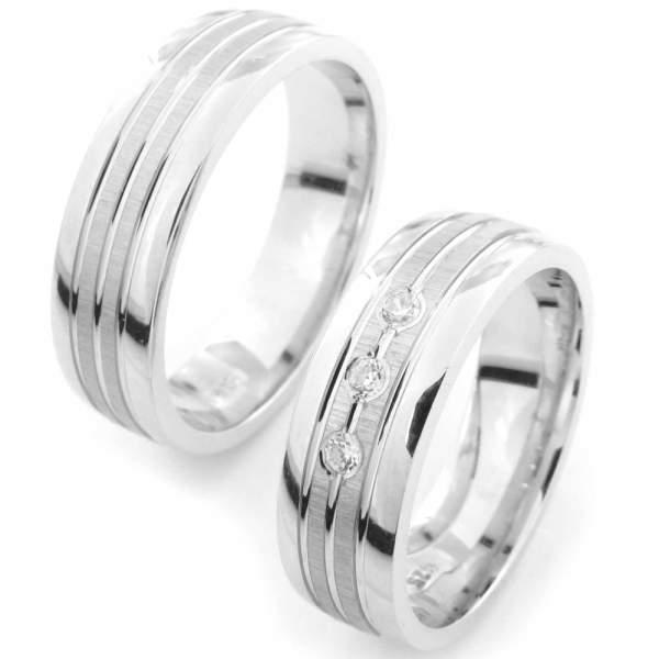 Verlobungsringe Silber Zirkonia Cilor CRG12