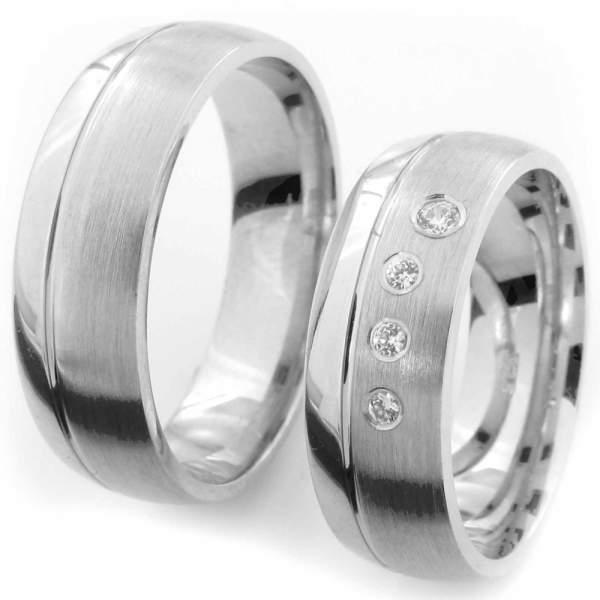 Verlobungsringe Silber Zirkonia Cilor CRG35