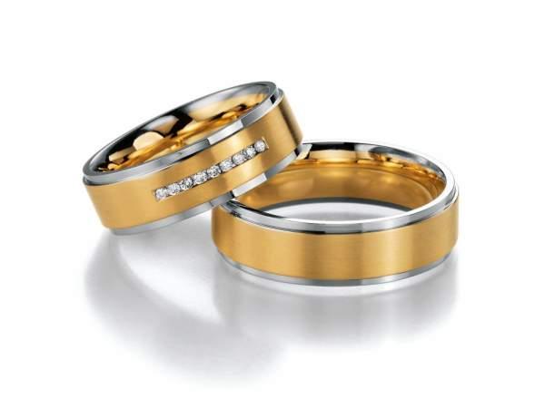 Trauringe Gold Honeymoon Premium Brillant 02-40750