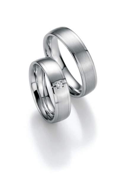 Trauringe Weißgold Honeymoon Premium Brillant 02-40330