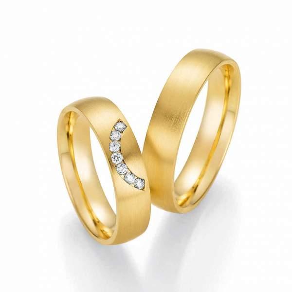 Trauringe Gold Honeymoon Solid Brillant 66-60110
