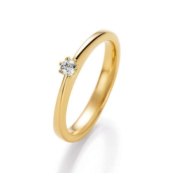 Antragsring Gelbgold Brillant 70-13030