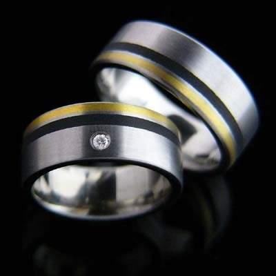 Trauringe Edelstahl Gold Brillant SCHOOP.Design R27
