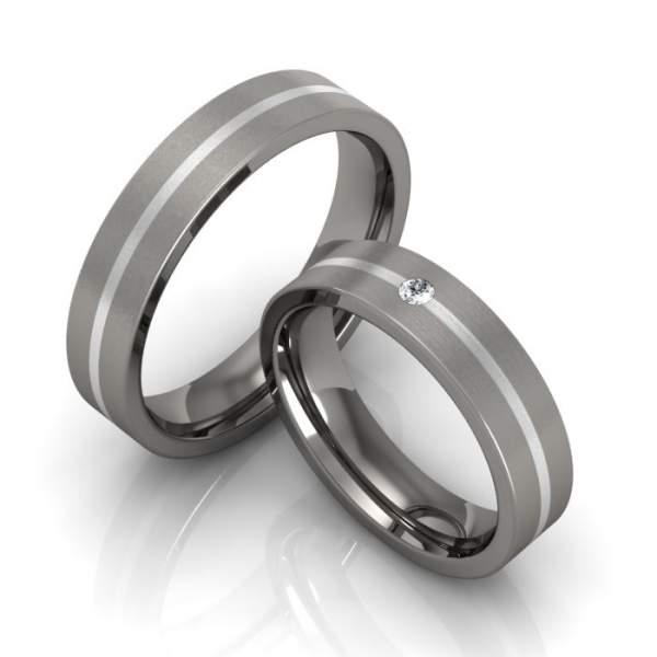 Verlobungsringe Titan Silber Brillant ID920