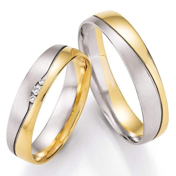 Trauringe Gold Palladium Honeymoon Pure Brillant 66-43050